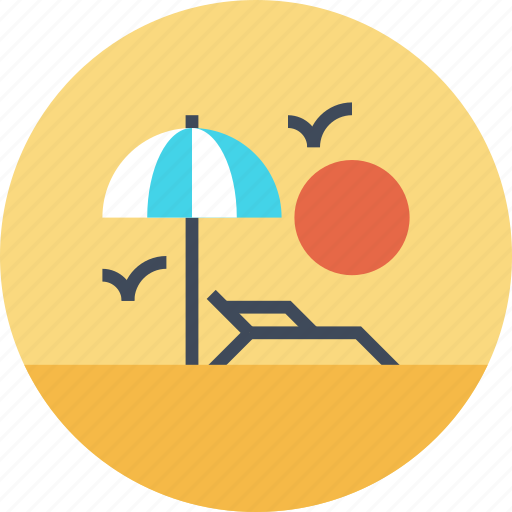 Beach, leisure, relax, sea, sun, travel, vacation icon - Download on Iconfinder
