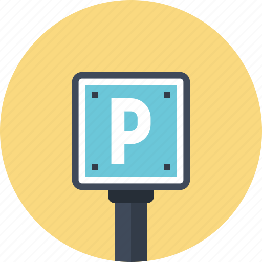 car, parking, place, road, sign, transport icon
