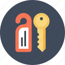 access, door, hanger, hotel, key, room, tag icon