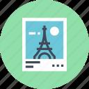 eiffel, landmark, photo, photography, tower, travel, vacation icon