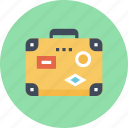 bag, baggage, luggage, suitcase, tourist, travel, vacation icon