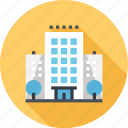 building, city, hotel, office, service, tourism, travel icon