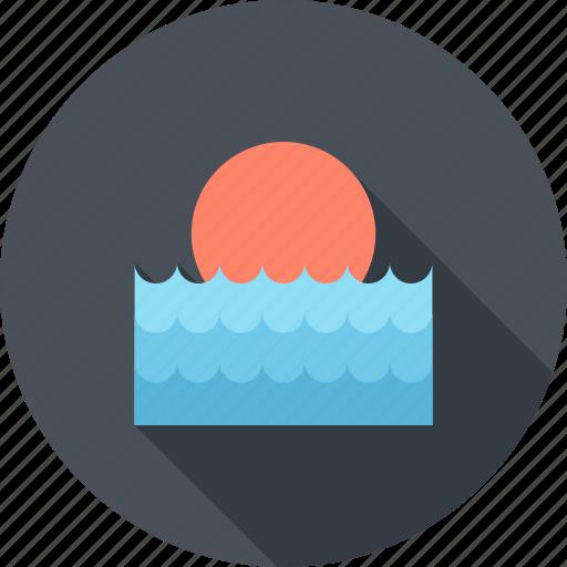 Sea, summer, sun, sunrise, sunset, travel, water icon - Download on Iconfinder