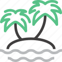 island, leisure, palm, paradise, tourism, travel, vacation