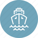 cruise, liner, marine, sea, ship, travel, vacation icon
