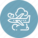 air, airplane, cloud, flight, plane, sky, travel icon