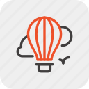 air, balloon, fly, hot, tourism, transport, travel icon
