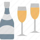 alcohol, bar, beverage, bottle, drink, glass, wine icon