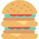 burger, cafe, eat, fast, food, meal, restaurant icon