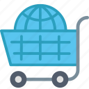 buy, cart, destination, shopping, travel, vacation, world icon