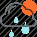 cloud, forecast, nature, rain, sky, sun, weather