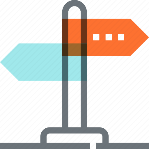 Decision, direction, guide, path, road, sign, way icon - Download on Iconfinder