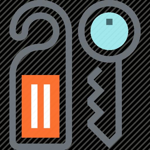 access, door, hanger, hotel, key, room, tag icon