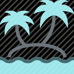 island, leisure, palm, paradise, tourism, travel, vacation icon