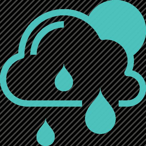 cloud, forecast, nature, rain, sky, sun, weather icon