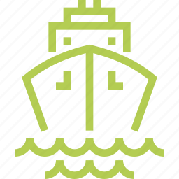 cruise, liner, marine, sea, ship, travel, vacation icon