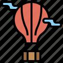 air, balloon, explore, flight, hot, transport, transportation, travel, trip icon