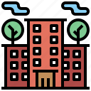 architecture, buildings, city, holidays, home, hotel, resort, trip, vacations icon