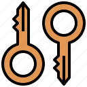 access, door, key, pass, passkey, password, tools, utensils icon