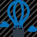 adventure, camping, outdoor, holiday, vacation, hot air balloon icon