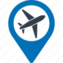 air, route, airplane, aeroplane, plane, flight icon