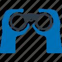 binocular, spyglass, binoculars, camping icon