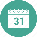 31 december, 31 october, calendar, date, event, schedule icon
