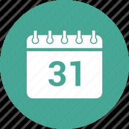 31 december, 31 october, calendar, date, event, schedule icon