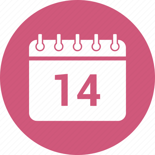 14 february, calendar, date, event, schedule icon