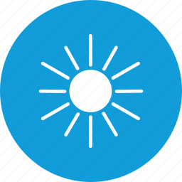 day, sun, weather icon