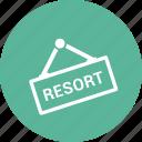 resort, outside, outdoor