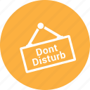 disturb, dont, facilities, room, sign icon