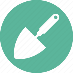 garden, shovel, tool, triangle icon