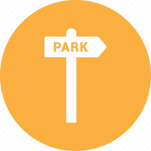 away, park, road, sign, travel icon