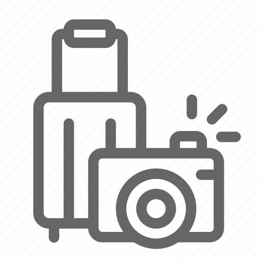 camera, luggage, photography, tourism, travel, traveller, vacation icon