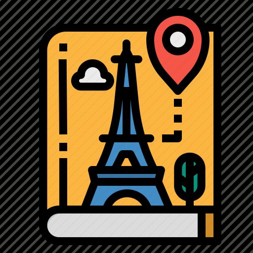 book, guide, location, maps, travel icon