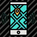 gps, map, mobile, phone, smartphone