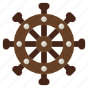 and, helm, navigation, sailing, tools, transport, utensils icon