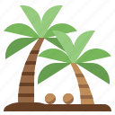 nature, palm, summertime, tree, tropical icon