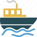 boat, marine, ocean, sea, ship, travel, vacation icon