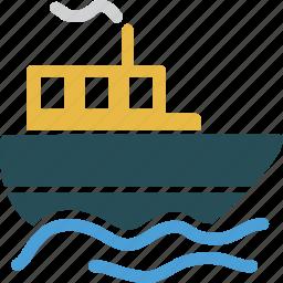 boat, marine, ocean, sea, ship, travel, vacation icon