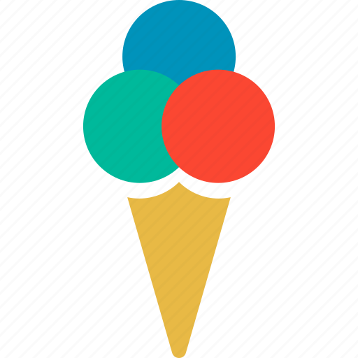 cone, cream, dessert, ice, icecream, sweet, tasty icon