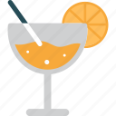beverage, cocktail, drink, drinks, glass, orange icon