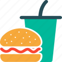 beverage, breakfast, burger, drink, drink and burger, food icon