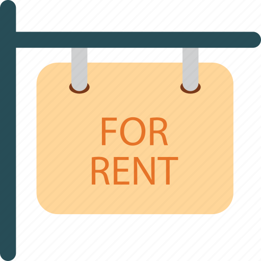 for rent, message, sign icon