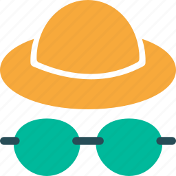 client, glasses, hat, manager, person, profile, user icon