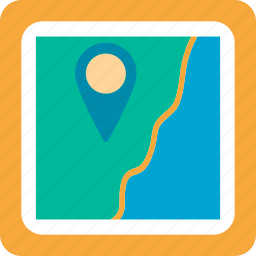 location, location on map, map, marker, navigate, navigation, pin icon
