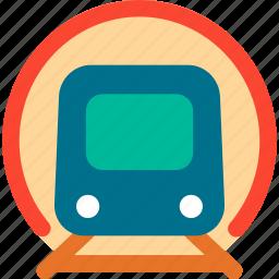 rail, railway, train, tram, transport, tunnel, vehicle icon