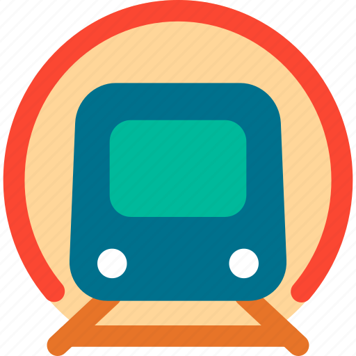 Train, tunnel, rail, railway, tram, transport, vehicle icon - Download on Iconfinder