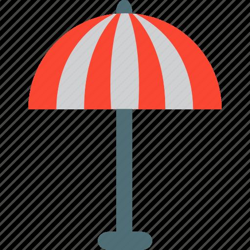 beach, forecast, rain, storm, umbrella, weather icon